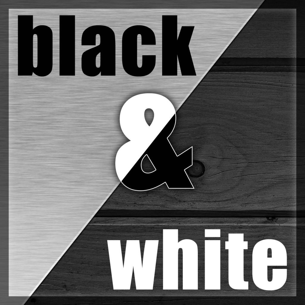 Black and White Wood Metal Podcast